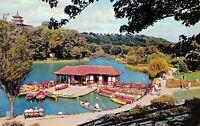 Vintage 1962 Postcard, Scarborough, Peasholm Park Boating Lake, Boats 99S