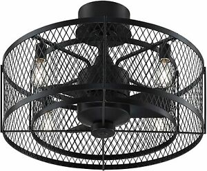 Fanimation Studio Collection Vintere Aged Bronze 20-in LED Ceiling Fan (3-Blade)