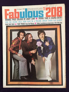 FABULOUS 208 MAGAZINE 17th Aug 1968 - Pop Music Fashion SCAFFOLD Beatles Related
