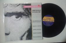 """Andrea Centazzo """"Omaggio a Pier Paolo Pasolini LP GAT INDEX 002 Italy 1988 NM/NM"""