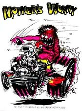 Rat Fink MOTHERS WORRY  Decal / Sticker   Hot Rod Car   Street Racing   Gasser