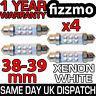4x 38mm 39mm NUMBER PLATE INTERIOR LIGHT FESTOON BULB 6 LED XENON WHITE 239 272