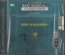 D'ALESSIO GIGI BASI MUSICALE TONALITA' ORIGINALE CD SEALED 2007  LIST  N.38