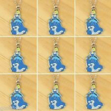 9pcs Princess Cinderella Charms Pendant Necklaces Girl Birthday Party Favor Gift