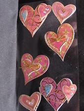 3D HEARTS,/BOWS X 6 SIMPLY BEAUTIFUL! L@@K