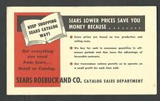 Ca 1948 P C RENO NV SEARS ROEBUCK CATALOG DEPT ADV THEIR LOW PRICES