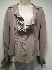 Jasper Conran Brown Long Sleeve Blouse - Size 12 (388)