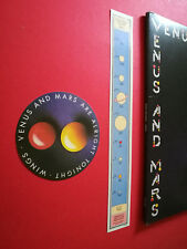 Paul McCartney Wings Venus & Mars UK 1st 1U/2U 2 Posters & 2 stickers Porky cut