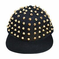 Bboy Hip Hop Cap Bling Decorated Flat Peak Gangster Snapback Hat Baseball Caps