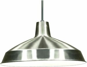 Nuvo Lighting SF76/661 Warehouse Shade, Brushed-Nickel Vintage Hanging Pendant