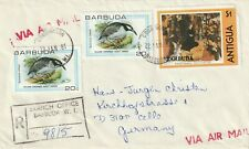 1981 Barbuda registered cover sent to Celle Germany