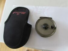 """vintage youngs early narrow pridex trout fly fishing reel 3.5"""" lineguard + pouch"""
