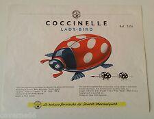 ANCIENNE PLANCHE JOUSTRA COCCINELLE  PROVENANT DU CATALOGUE 1960 AVEC TARIFS
