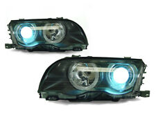 DEPO Angel Halo Projector Headlight + Xenon HID Pair For 1999-2001 BMW E46 4D/5D