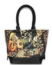 LIQUOR BRAND HORROR B MOVIE SHOULDER BAG HANDBAG PUNK GOTH PSYCHOBILLY TATTOO