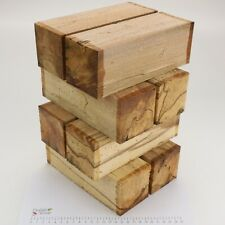 8 Punky Spalted Beech wood turning spindle blanks. 73 x 73 x 205mm. 5192A