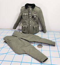 DID WWII German sniper major Konig uniform 1/6 toys 3R shoulder boards metals