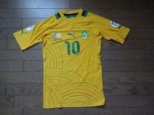 South Africa #10 Original Soccer Football Match Worn Jersey Shirt L Home Rare