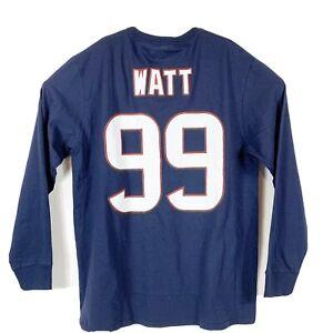Majestic NFL Houston Texans JJ Watt #99 Long Sleeve Shirt Navy Jersey Sz XL- NEW