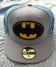 NEW ERA BATMAN 59FIFTY CAP (Grey/Sky Blue) - SIZE 7 1/8 - NEW!