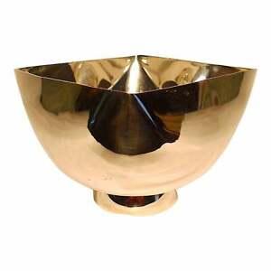 1970s Modernist Silver-Plated Bowl by Ward Bennett - Restored