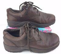 Women's Dunham 5800BR Size 10EE Waterproof Brown Leather Hiking Walking Shoes K6