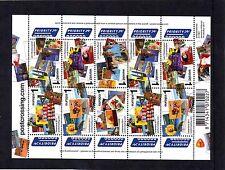 Nederland NVPH 2879-84 Vel Postcrossing 2011 Postfris