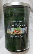 Yankee Candle CHRISTMAS IN PARIS World Journeys Large Jar 22 Oz New Housewarmer
