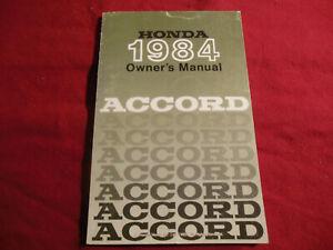HONDA 1984 ACCORD Used OWNER'S MANUAL H/C 1557420