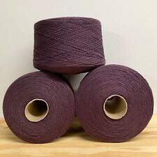 Yarn Lot 3+ Large Cones  Purple  -Cotton-Acry 11+ POUNDS!!