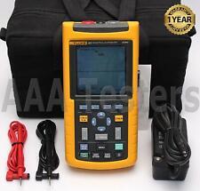 Fluke 123 Industrial Scopemeter 20mhz Handheld Oscilloscope Scope Meter 123003