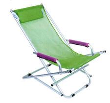 Sedia sdraio Dondolino pieghevole in alluminio e textilene Verde Enrico Coveri
