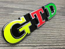 GOLF 5 6 7 V VI VII GTD NEON EMBLEMA LOGO GRIGLIA ANTERIORE GRILL premute