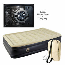 Relax Inflatable High Raised Air Bed Mattress with Built in Electric Pump