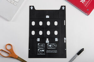 Inkjet PVC ID Card Tray for Epson Artisan 1430, 1430W, 1500W, R1800, and More
