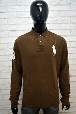 Polo Maglia Uomo RALPH LAUREN Taglia Size XXL Maglietta Manica Lunga Shirt Man