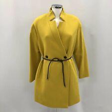 L K Bennett Coat UK 14 Women Mustard Yellow Wool Cashmere Collared Smart 340853