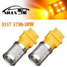 2x Amber/Yellow 3157 3156 High Power 10W 5730 LED Turn Signal Blinker Light Bulb