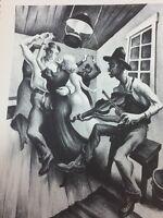 Thomas Benton I Got a Gal on Sourwood Mountain Vintage Print Lithograph 25637