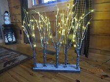 "Raz Imports 30"" Lighted Snowy Tree Grove LED Light Christmas Holiday M3400915"