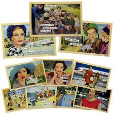 "10pk Random Anne Taintor 4x6"" Magnetic Postcard Set Refrigerator Funny Comic Art"