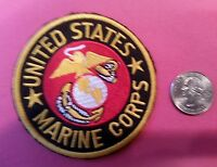 "United States U.S. MARINE CORPS. MARINES Patch embroidered  3""x3"" Vintage style"