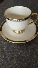Lenox China Hancock Footed Cup & Saucer Gold Trim Presidential Collection
