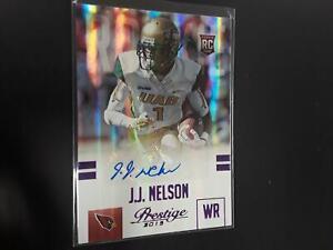 JJ Nelson 2015 Prestige Rookie Auto Autograph Purple RC #66/100 Cardinals MY