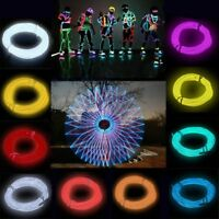 Flexible Neon LED Light Glow EL Wire String Strip Rope Tube Car Party Decor aa