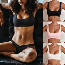Women Bandage Bralette Bra Boho Beach Bikini Sleeveless Cami Tank Crop Top D9