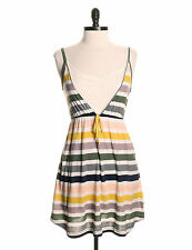 Striped Dress by Hurley - Size M - Multi Colour Summer - Stretch Cotton - NWT