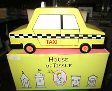 Wood House Of Tissue Box Taxi Car Checker Cab Cover Dana Michele New in Box 1999