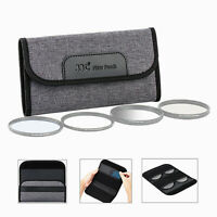 4 Slots Camera Lens Filter Case Pouch for UV CPL ND Filter Storage Up to 58mm