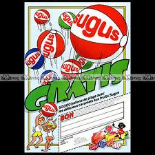 BONBONS SUGUS & 'Les ballons de plage' - 1984 Pub / Publicité / Ad #A93